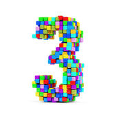 Numbers Made From Colorful Cubes — Foto de Stock
