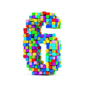 Numbers Made From Colorful Cubes — Stock fotografie