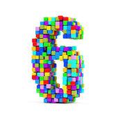 Números de cubos de colores — Foto de Stock