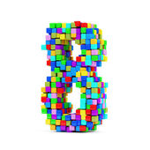 Numbers Made From Colorful Cubes — Stock Photo