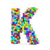 Letters Made From Colorful Cubes — Stock fotografie