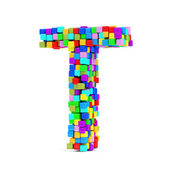 Letters Made From Colorful Cubes — Foto de Stock