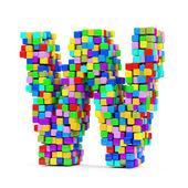 Letras de cubos de colores — Foto de Stock
