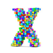 Letters Made From Colorful Cubes — Stock Photo