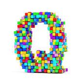 Litery wykonane z kolorowych kostek — Zdjęcie stockowe