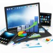 Laptop with Business Graph — Stock Photo #46434091