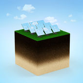 Modern Solar Panels — Stock Photo