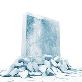 Solid Ice Block — Stock Photo