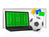 PC Laptop Football Concept. — Stock Photo