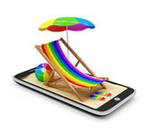 Vacation with Mobile Phone Concept. — Stockfoto