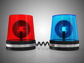Red and Blue Siren System — Stock Photo