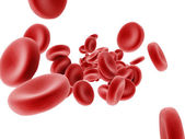Red Blood Cells Flowing — Stock Photo