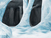 Blue Ice Cave — Stock Photo