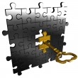 Stock Photo: Puzzle key