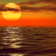 Red sunset waves — Stock Video #26759237