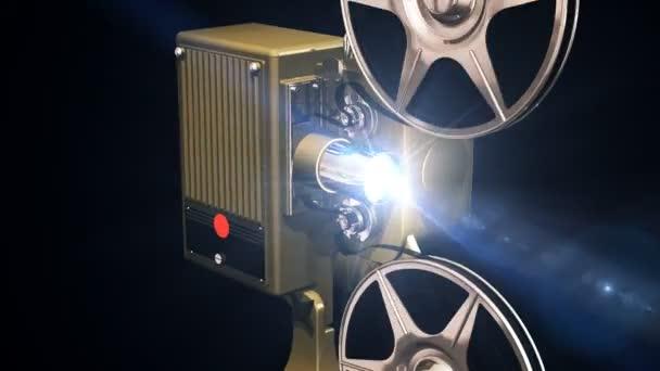 Película del proyector — Vídeo de stock