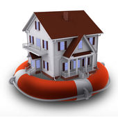 House on lifebuoy — Stock Photo