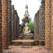 Old buddha statue in Thailand — Stock Photo