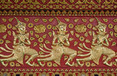 Thai style gloden deva carving on wood — ストック写真