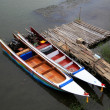 Foto Stock: Boat on river