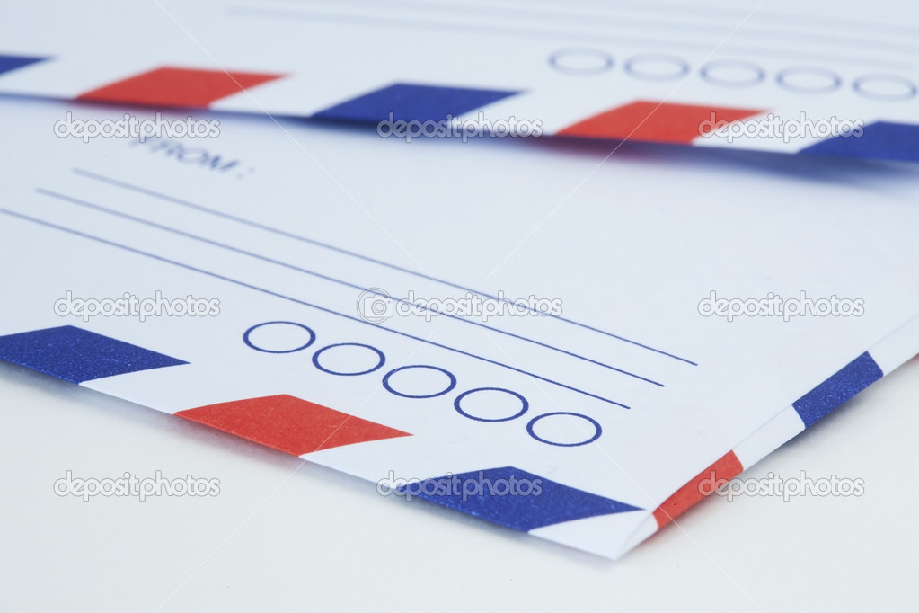 Air mail envelope — Stock Photo #14191276