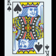 Playing cards - King of spades — Stock Photo #18154113