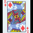 Playing cards - King of diamonds — Stock Photo #18154135