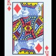 Playing cards - King of diamonds — Stock Photo