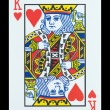 Playing cards - King of hearts — Stock Photo
