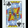 Stock Photo: Playing cards - King of clubs