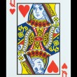 Playing cards - Queen of hearts — Stock Photo