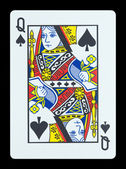 Playing cards - Queen of spades — Stock Photo