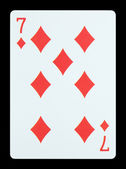 Playing cards - Seven of diamonds — Stock Photo