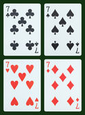 Playing cards - Seven — Stock Photo