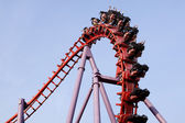 A roller coaster ride — Foto Stock