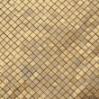 Stock Photo: The wall with golden mosaic in Grand palace, Thailand