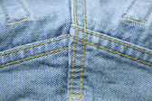 Blue jeans texture background — Stock Photo