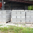 Pallets of concrete blocks — Stock Photo