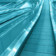 Stock Photo: The airport escalator