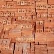 Stack of Raw Bricks — Stock Photo