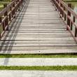 Footbridge in a garden — Stock Photo