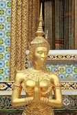 Golden Kinnari Statue in Grand Palace, Thailand — Stock Photo