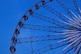 Ferris wheel with blue sky — Stock Photo