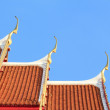 Thai art on roof church at Thai temple — Stock Photo