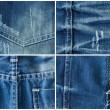 Set of jeans textures backgrounds — Stock Photo #40508479