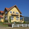 Yellow House in Thailand — Stock Photo