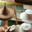 Hat in floating market in Thailand — Stock Photo