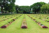 Cemetery in Kanchanaburi Thailand — Foto Stock