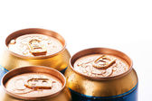 Cans of cold drinks — Stock fotografie