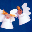 Two angels made from paper — Stock Photo